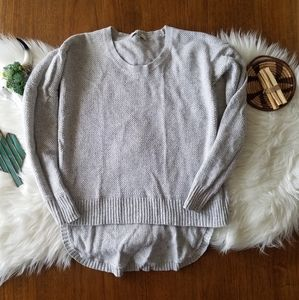 Gray high low sweater from Madewell